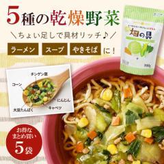 スープ ラーメン の具 セット割 乾燥野菜畑の具190gx5袋 (キャベツ チンゲン菜 コーン にんじん 大豆) 送料無料 ひかり味噌 スープの具