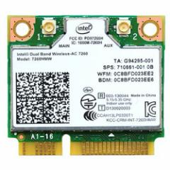 Intel (インテル) WiFi 7260HMW デュアルバンドWi-Fi + Bluetooth 4.0 ワイヤレスカード