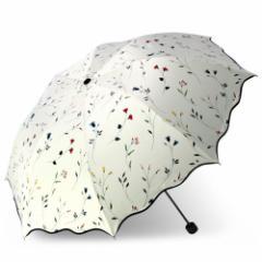 NET-O 日傘 折りたたみ傘 レディース アンブレラ 【海道の花】 腕まで日陰 大型96cm