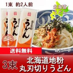 「北海道 饂飩 送料無料 乾麺」 北海道地粉を使用 北海道(ほっかいどう)うどん 200 g×3束 価格 540 円「送料無料 メール便 ウドン」