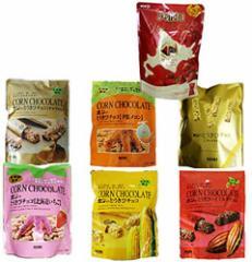 HORI とうきびチョコ 各1袋(ホワイト・いちご・ハイミルク・夕張メロン・キャラメル・プレミアム) と アポロ チョコレート 1袋 計7袋 送