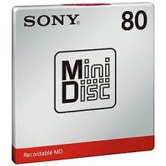 ソニー ミニディスク 80分 1枚 MDW80T