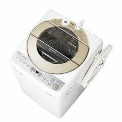シャープ 全自動洗濯機 (洗濯9.0kg) ES−GV9C−N ゴールド(標準設置無料)