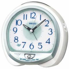 セイコー セイコー目覚まし時計 QM748M 白パール