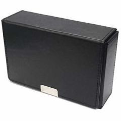 アクラス 合皮製スリムカードケース ブラック