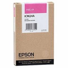 エプソン EPSON インクカートリッジ (マゼンタ) ICM24A (マゼンタ)