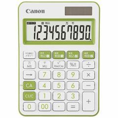 キヤノン CANON カラフル電卓(10桁) ミニ卓上 LS-105WUC-GR