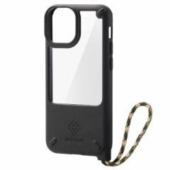 エレコム ELECOM iPhone 13 mini/ハイブリッドケース/NESTOUT/Lake PMA21ANEST3BK