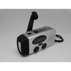ヒース ソーラー手回し充電機能付き防災ラジオ HI7SV