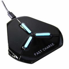 アイキューラボ CONSON Qi対応 Wireless Charging Triangle WC-FC-T-BK ブラック