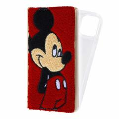 INGREM iPhone 13 『ディズニーキャラクター』/手帳型 FLEX CASE サガラ刺繍/ミッキーマウス イングレム INRDP31FSG3MK