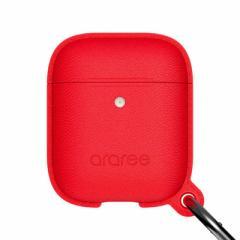 ROA AirPods Case POPS (Wireless Charging Case専用) レッド araree AR16460AP