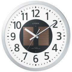 リズム時計 電波ソーラー掛け時計「エコライフM815」 4MY815-019