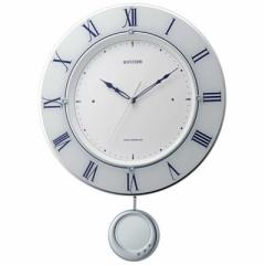 リズム時計 電波掛け時計「トライメテオ」 8MX402SR03