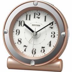 リズム時計 目覚まし時計 ピンクパール色(白) 8RE679SR13