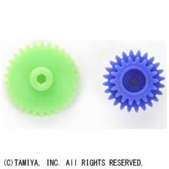 タミヤ TAMIYA ミニ四駆 AO-1032 G-6青、G-10黄緑 ギヤ(各1個)