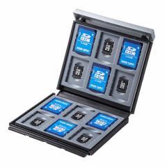 サンワサプライ SD・microSDカードケース(ブラック) FC-MMC4BKN