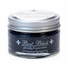 コロンブス ブラックシルバーラインシュークリーム ネイビーブルー 55g ブラックシルバーラインシュークリーム