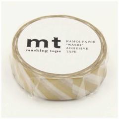 カモ井加工紙 「マスキングテープ」mt 1P ストライプ・金 MT01D377