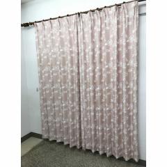 青木 2枚組 ドレープカーテン ロージア(100×178cm/ピンク) ロージア178PK(100