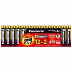 パナソニック Panasonic 「単4形乾電池」アルカリ乾電池 12+2本パック(限定増量パック) LR03XJSP/14S