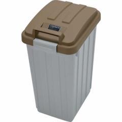 トラスコ中山 カラー分別ボックス45L ハンドル付 ブラウン TCH03