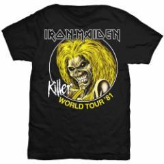 IRON MAIDEN アイアンメイデン - Killer World Tour 81 / Tシャツ / メンズ 【公式 / オフィシャル】