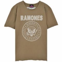 RAMONES ラモーンズ - LOGO KHAKI / Amplified( ブランド ) / Tシャツ / メンズ 【公式 / オフィシャル】