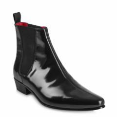 BEATLES ビートルズ - Cavern Boots - Black Hi Shine Leather / ブーツ・革靴 【公式 / オフィシャル】