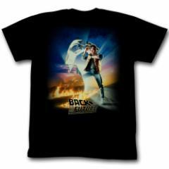 BACK TO THE FUTURE バックトゥザフューチャー - BTF Poster(Black) / Tシャツ / メンズ 【公式 / オフィ