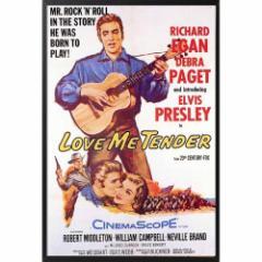 ELVIS PRESLEY エルヴィスプレスリー - LOVE ME TENDER Movie(復刻ポスター・木製額入り) / インテリア額