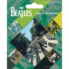 BEATLES ビートルズ - ABBEY ROADステッカー5個セット / ステッカー 【公式 / オフィシャル】
