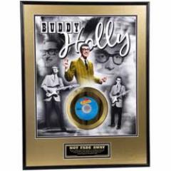 BUDDY HOLLY バディホリー - Not Fade Away 50th Anniversary / GOLD DISC / インテリア額 【公式 / オフィシャ