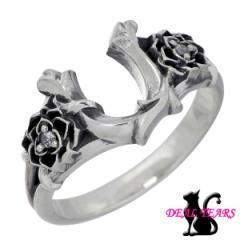 ディール ティアーズ DEAL TEARS シルバー リング 指輪 レディース メンズ 1〜23号 ローズ ホースシュー 馬蹄 キュービック バラ 399238S