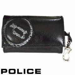 ポリス POLICE キーケース EVEN キーホルダー ブラック メンズ PA-55500-10