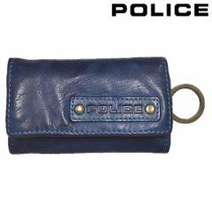 ポリス POLICE キーケース メンズ LAVARE レザー ネイビー 牛革 正規品 PA-59600-50