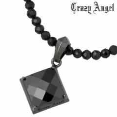クレイジーエンジェル Crazy Angel ネックレス メンズ グリッター シルバー メンズ ブラックキュービック ブラックスピネル リバーシブル