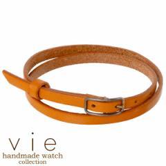 ヴィー vie ブレスレット レディース handmade watch 手作り レザーベルト ハンドメイド WL-005