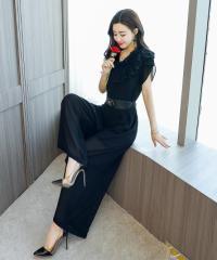 スーツパンツドレス シフォンワイドレッグパンツ ファッションズボン ファンツーピース ワイドレッグパンツ イベント