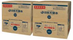 日田天領水 長期保存用 12L バッグインボックス 2個1組 12l × 2 送料無料(ポイント消化、天然活性水素水、バックインボックス)