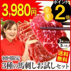 お中元 国産 ギフト 【今だけポイント2倍!】ギフト  国産 馬刺し 熊本 肉 ギフト 送料無料 3種食べ比べ 約5人前 250g 赤身 中トロ たて
