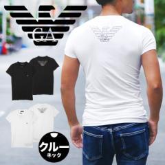 エンポリオ アルマーニ クルーネック 半袖 Tシャツ メンズ トップス カットソー 丸首 EMPORIO ARMANI ワンポイント BIG EAGLE かっこいい