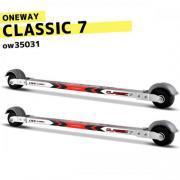 ローラースキー【ONEWAY】クラシック7 PRO silver-red 金具込 OW35031