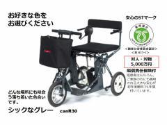 自由に動ける喜びをお届けします。日本初!全自動折りたたみ 電動カート DiBlasi R30 <グレー>