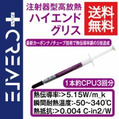 CPUグリス PC パソコン用 シルバー 1本 高性能タイプ 高効率熱伝導タイプ 高冷却 注射器タイプ 銀【PC-grease-silver】
