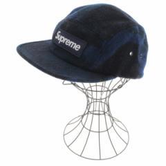 Supreme  / シュプリーム メンズ 帽子 色:青x黒(総柄) サイズ:-