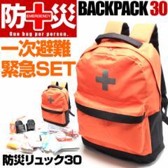 在庫あり 防災リュック セット 30 非常用持ち出し袋 災害 地震 台風 避難 対策 防災セット 防災