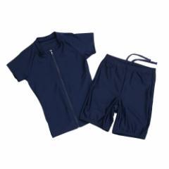 エックス チームスポーツ(X-TEAM SP)セパレート 袖付水着 833G5FM3907 NVY (Jr)