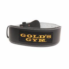 ゴールドジム(GOLD'S GYM)トレーニングレザーベルト G3368 BK(Men's、Lady's)
