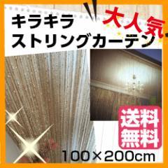 ストリング カーテン ひも のれん キラキラ フリンジ カット 可能 100 × 200 cm